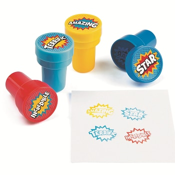 Superhero Self-inking Stamps
