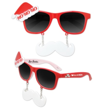 Santa Sun-Stache Glasses