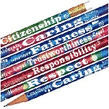 Foil Building Blocks of Character Pencils